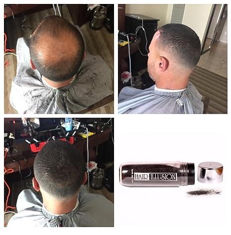 Hair Illusion: Polvo de cobertura cabello natural contra caída de pelo, para hombres y mujeres, pelo natural 100%, 38g, Negro: Amazon.es: Belleza
