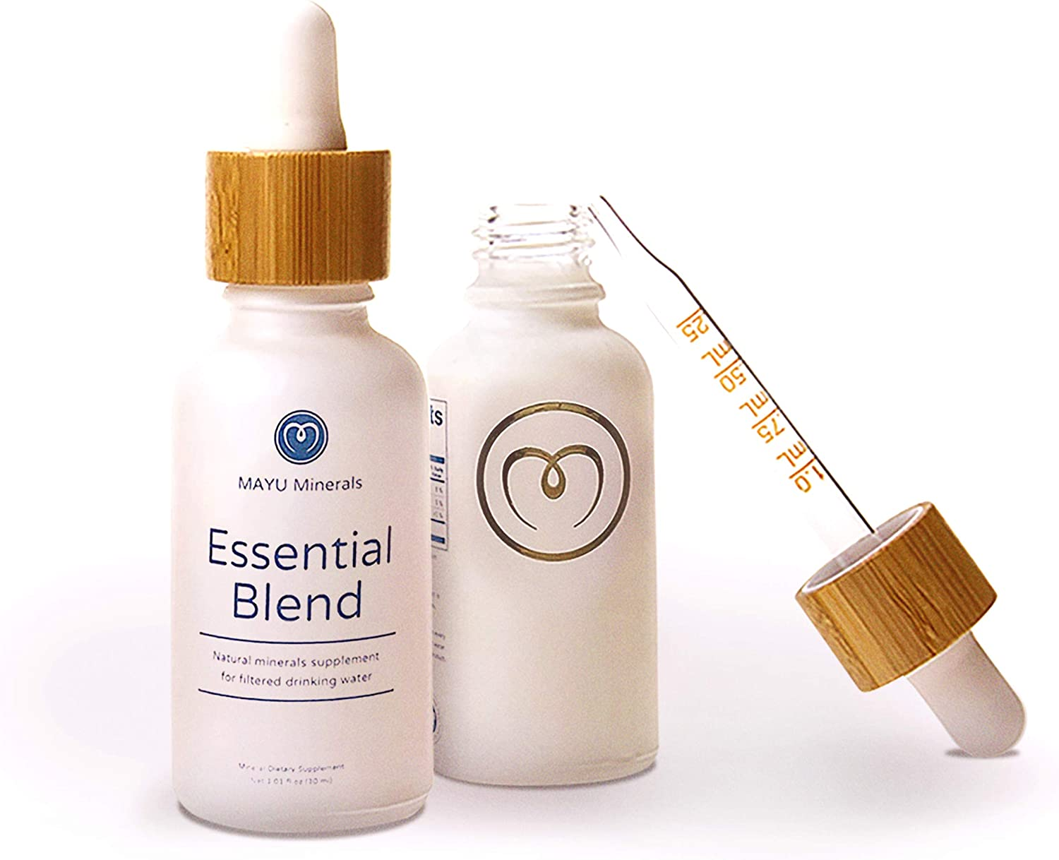 Mayu Trace Mineral Supplements, Essential Blend Drops for Immune Support & Alkaline Water