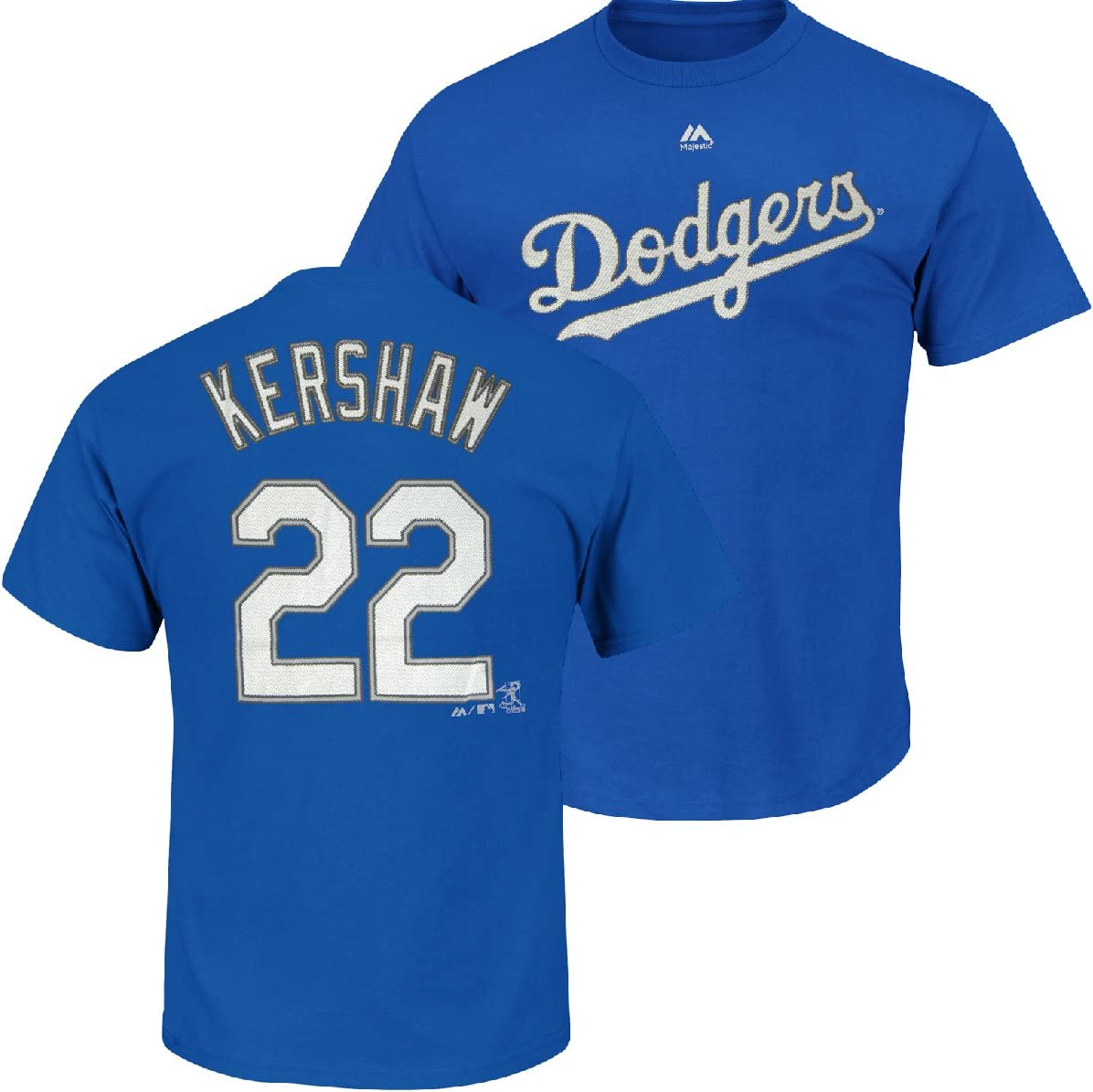 Majestic Clayton Kershaw Los Angeles Dodgers Blue Youth Jersey Name and Number T-shirt