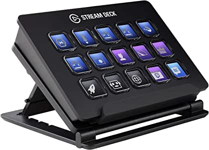 Elgato Stream Deck - Live Content Creation Controller with 15 Customizable LCD Keys, Adjustable Stand, for Windows 10 and macOS 10.13 or late