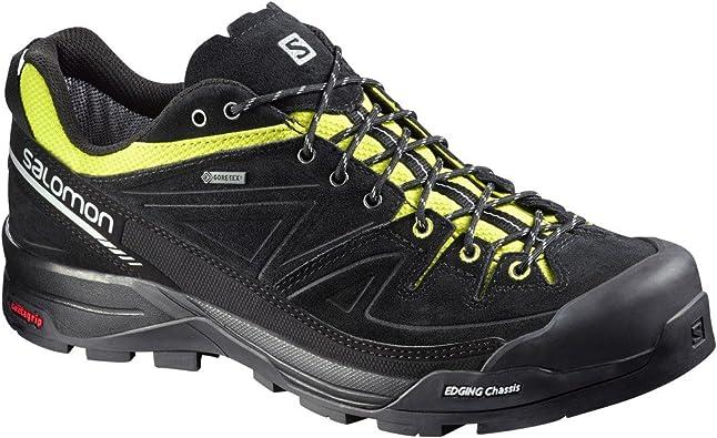 SALOMON Mens X Alp Leather Gore Tex Trail Running Shoes SS17 7 Black