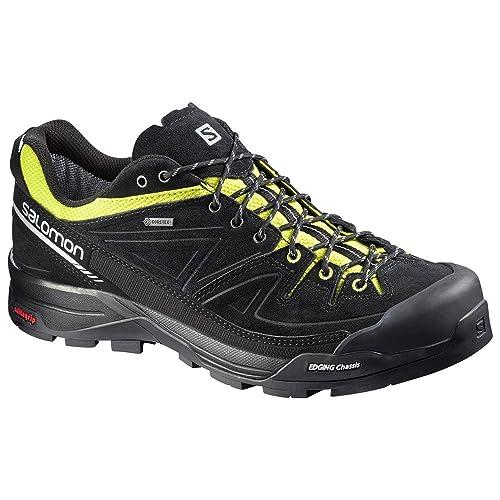 Salomon L37926600, Zapatillas de Senderismo para Hombre, Negro (Black/Gecko Green/Aluminium), 41 1/3 EU: Amazon.es: Zapatos y complementos