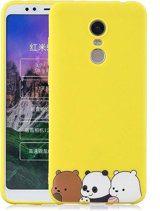 CoverTpu Funda para Xiaomi Redmi Note 5, Azul Silicona Funda ...