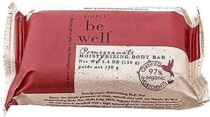 Simply Be Well Moisturizing Body Bar Pomegranate Certified 97% Organic, 150Gm