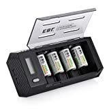 EBL C Size Rechargeable Batteries (4 Pack) with