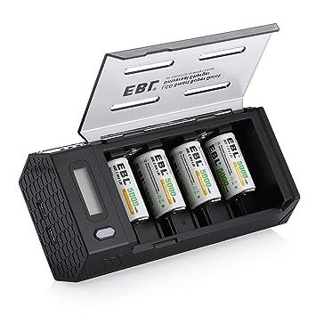 EBL batería de tamaño C Pilas (4 Pack) con Upgraded AA AAA ...
