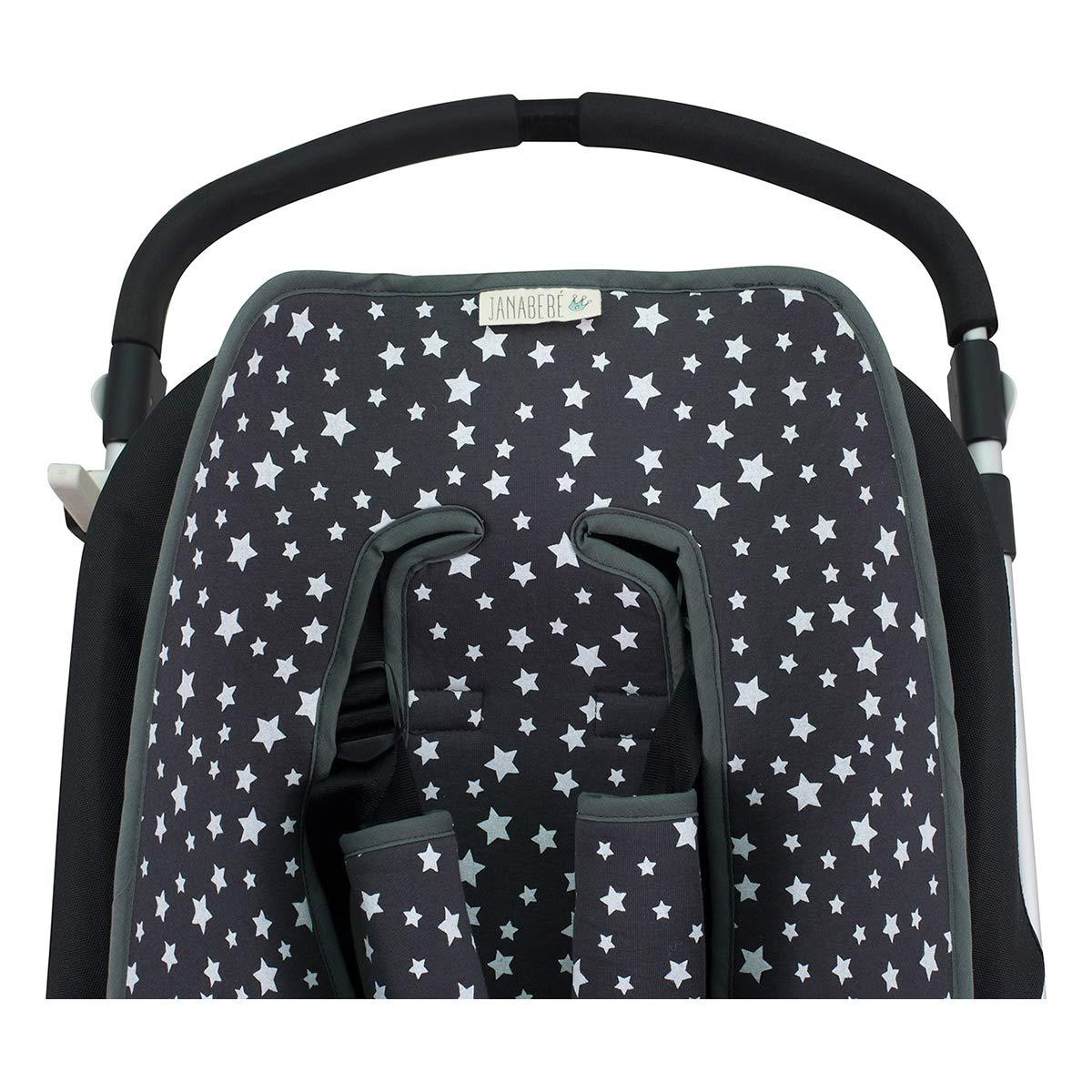 Black Rayo Inglesina, Cibex, Bugaboo. Protection Harnesses Janabebe/® Universal Cover Pushchair Luxury Foam