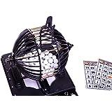 Juego de bingo de lujo para hasta 20 jugadores, 20 tarjetas únicas reutilizables, 96 bolas de bingo + 2 juegos extra de 20 ta