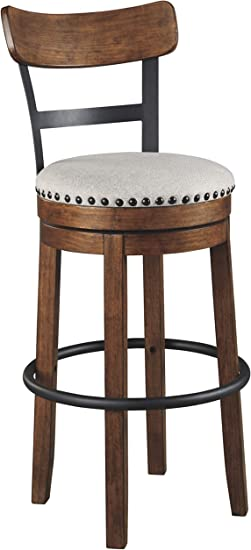 Signature Design By Ashley D546 430 Valebeck Barstool Brown Pub Height Amazon Ca Home Kitchen
