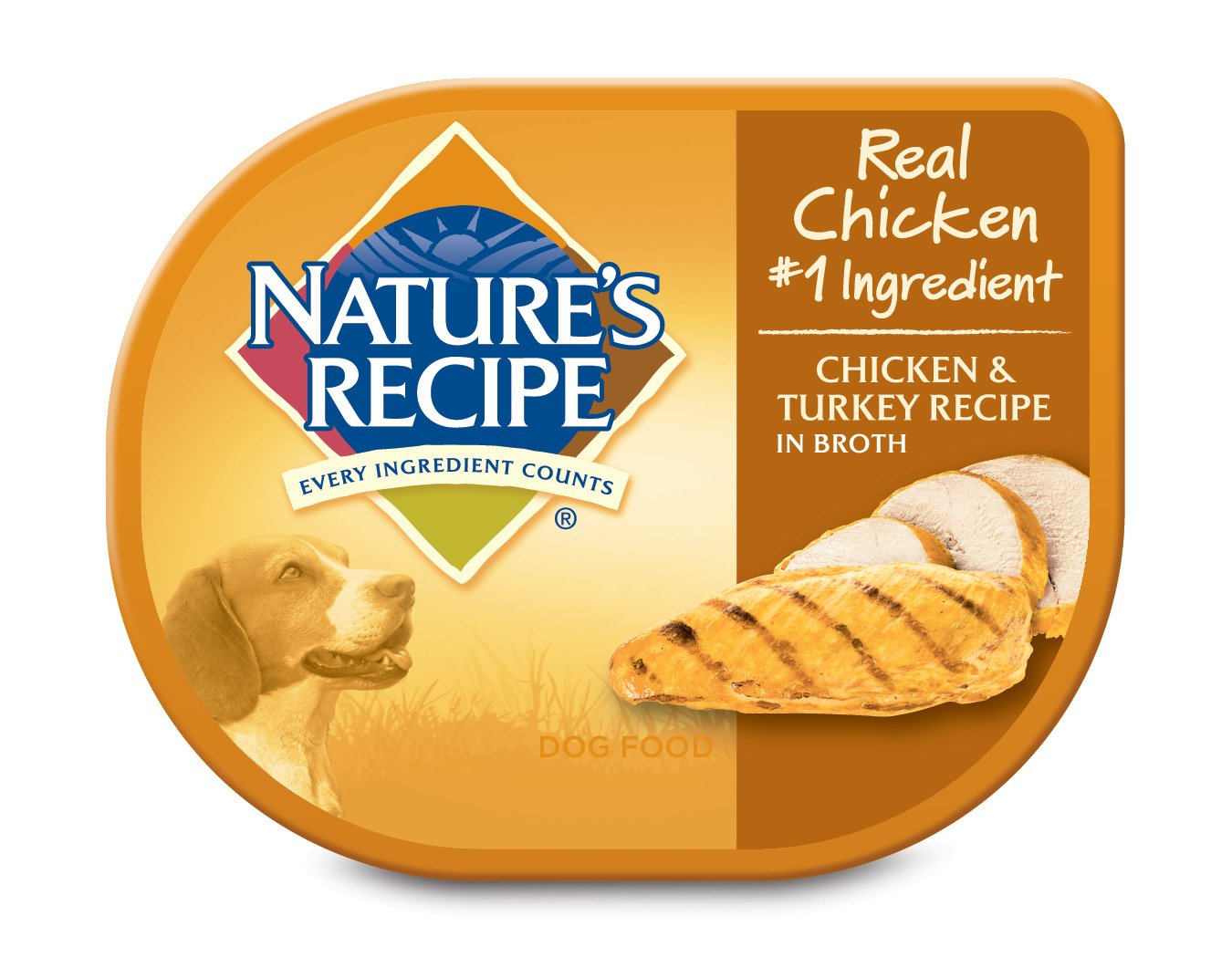 Nature's Recipe Wet Dog Food, Chicken & Turkey Recipe In Broth, 2.75-Ounce Cup (Pack of 24)