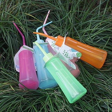 PTOBBA 250 Botellas de Lavado de suculentas Flor de riego Tiesto Agua Puede Doblar Boca de la Botella del apretón del hogar Mini jardinería Accesorios, Rosado Redondo: Amazon.es: Jardín