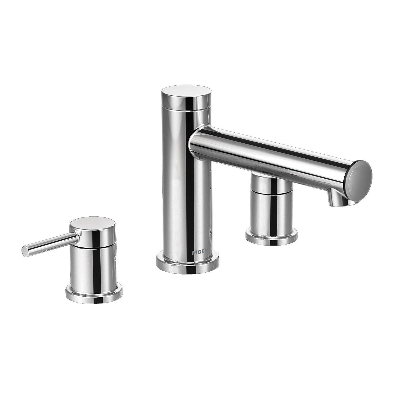 Moen T393 Align Two Handle Non Diverter Roman Tub Faucet Chrome