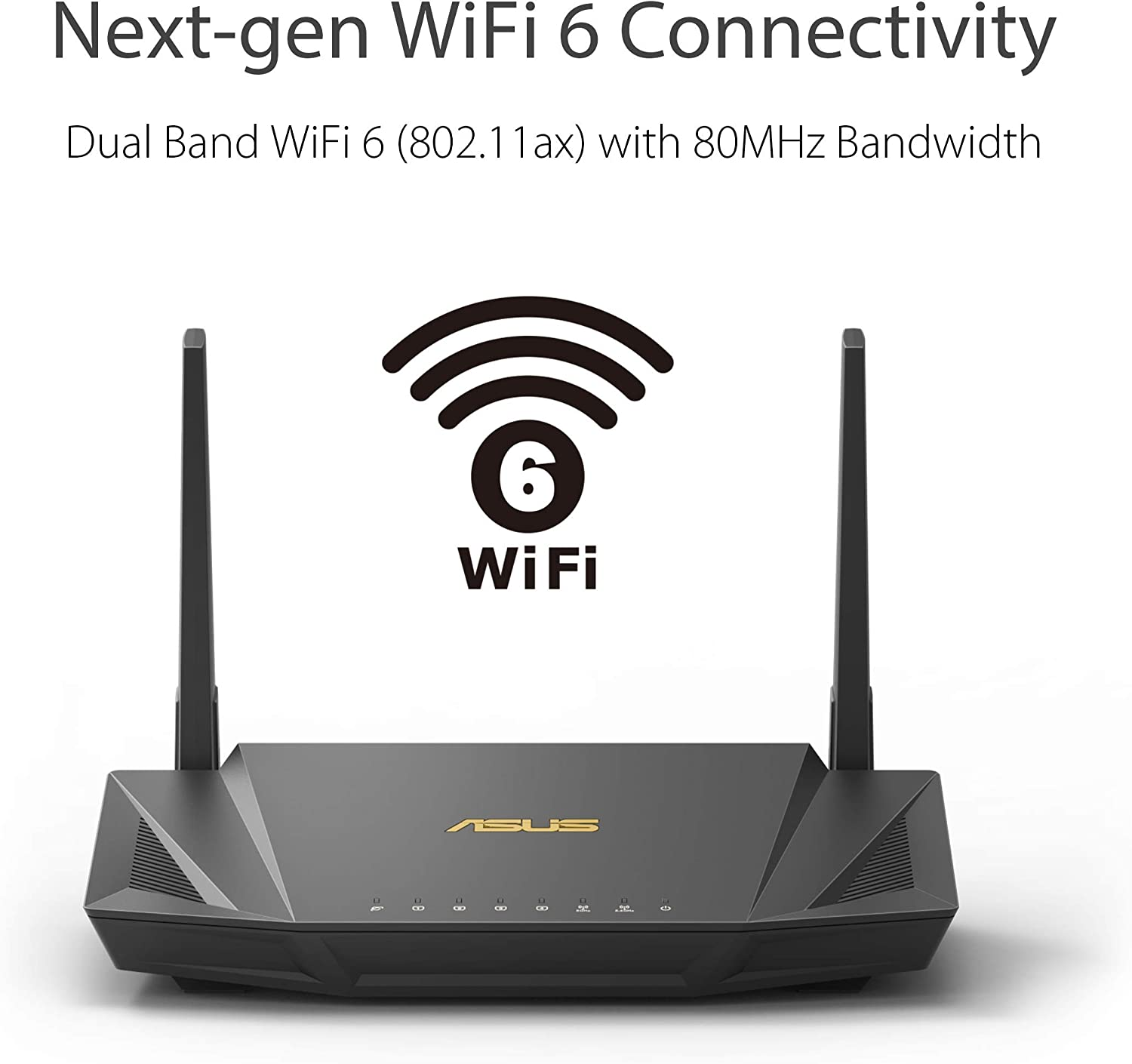 Lifetime Internet Security with AiProtection ASUS RT-AX56U AX1800 WiFi 6 Dual-Band WiFi Router MU-MIMO Whole-home WiFi with AiMesh OFDMA VPN Setting