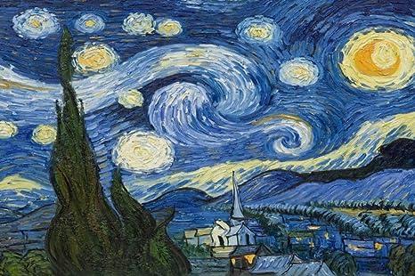 Wemur Carta Da Parati 3d Per Parete 3d Notte Stellata Van Gogh Arte