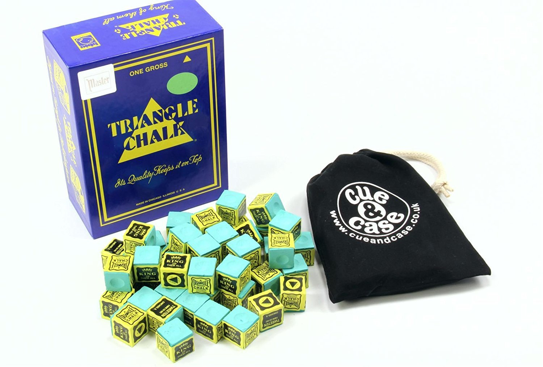 12 Pieces Green KING TRIANGLE Snooker & Pool Chalk - Worlds Most Popular Chalk! by Tweeten