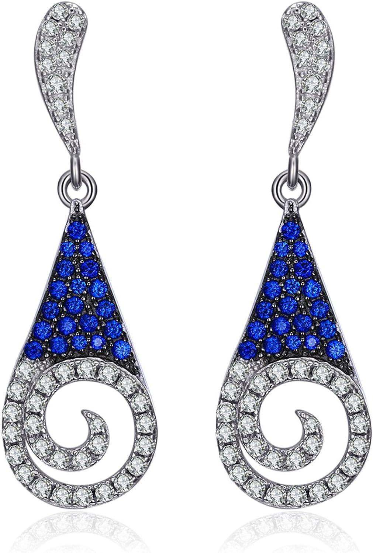 JewelryPalace Pendientes Piedra Preciosa Zafiro Cuarzo Rubí Esmeralda Espinela Plata de ley 925