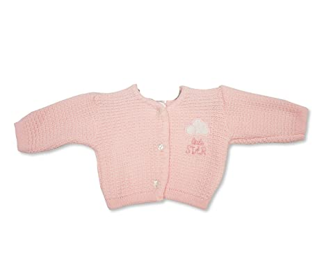 Gorgeous Baby Girls Premature Pink Knitted Cardigan Little Star Design