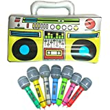 """16"""" Party Inflatable Boom Box PVC Radio + 2 Microphones for inflatable props 80s party decorations"""