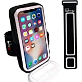 "iPhone X/10 Running Armband. Sports Phone Holder Case for Joggers, Fitness, Gym Workouts & Outdoor Exercise (Small 9"" - Large 20"" Arms)"