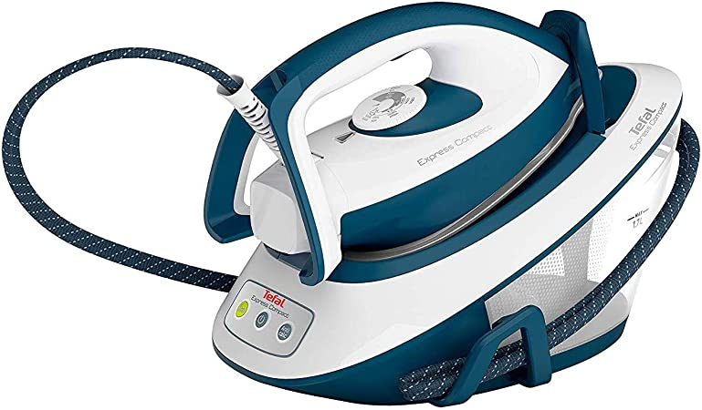 White /& Blue tefal SV7110 Express Compact Steam Generator Iron
