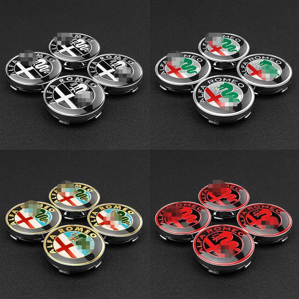 massage 4Pcs 60mm Auto Radnabenkappen Nabendeckel Felgendeckel Emblem Abzeichen Staubdichte Abdeckung F/üR Alfa Romeo Giulietta Spider Giulia Mito 147 156