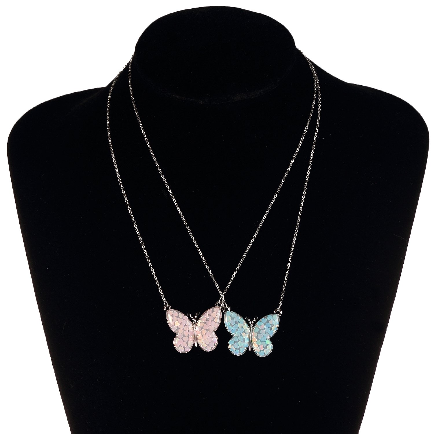 Lemonage Butterfly Necklaces for Girls Kids with Stunning Alloy Pendant Necklace, Children 3+ (Pink) by Lemonage (Image #3)
