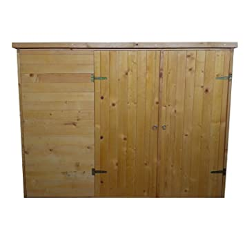 Caseta bicicleta Box - 205 x 87 x 151 cm (Alto) - con doble puerta - lacado madera maciza - Aquí tiene todo su espacio: Amazon.es: Jardín