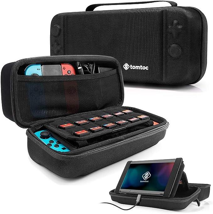 tomtoc Funda para Nintendo Switch, Original Estuche Rígido con 24 Cartuchos de Juego, Case Protector de Viaje para Nintendo Swtich Consola y Accesorios, Negro: Amazon.es: Videojuegos