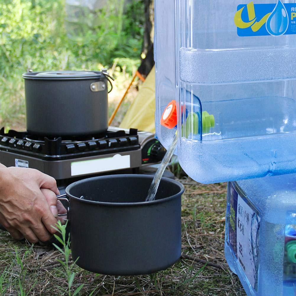 Todaytop 15L Port/átil con Lata de Agua con Tapa Libre de BPA Carro de Agua para Coche de Pl/ástico Tanque de Agua para Acampar en el Hogar al Aire Libre Emergencia Caravanas Senderismo para Acampar