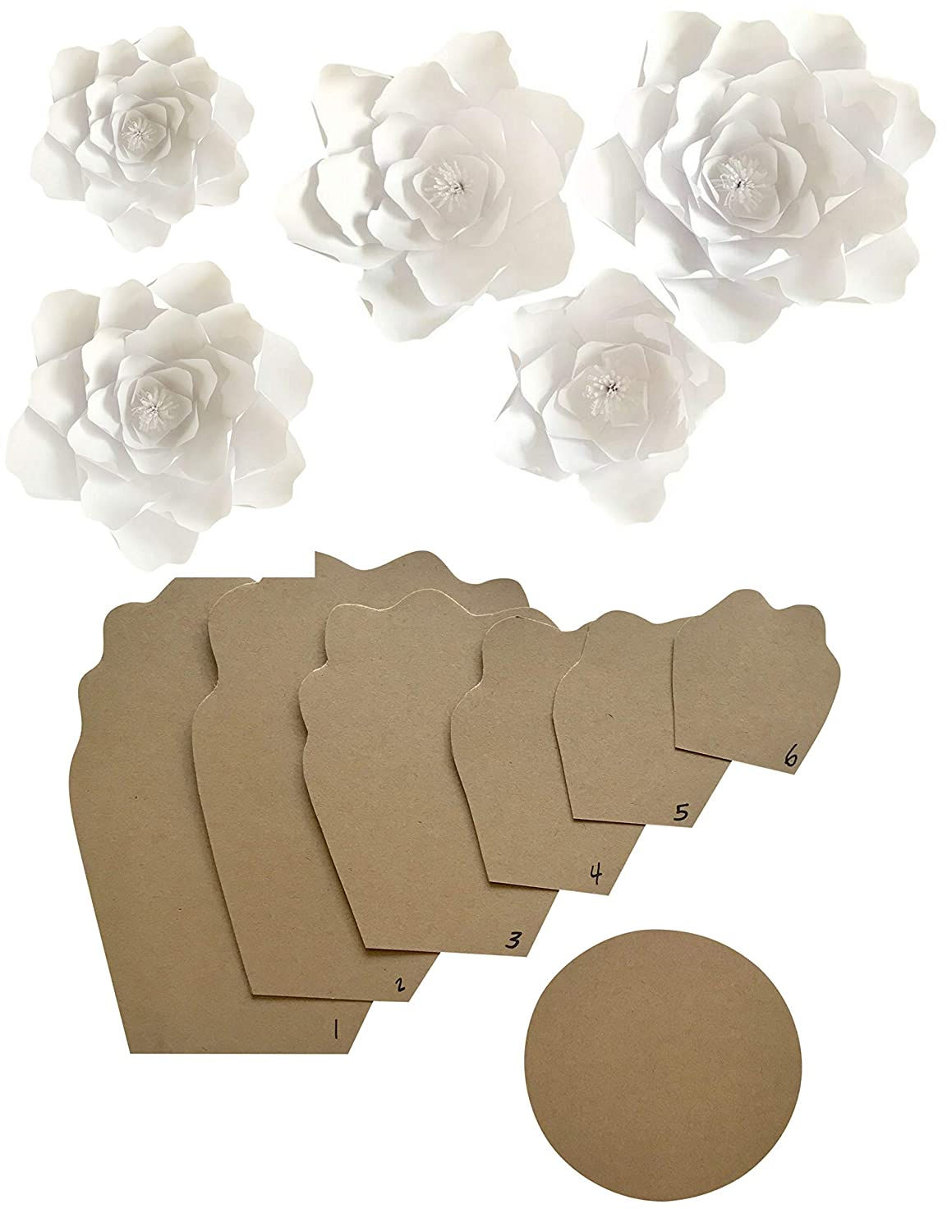Paper Flower Template Kit Make Your Own Paper Flowers Paper Flowers Decoration Make Unlimited Flowers Diy Do It Yourself Make All Sizes