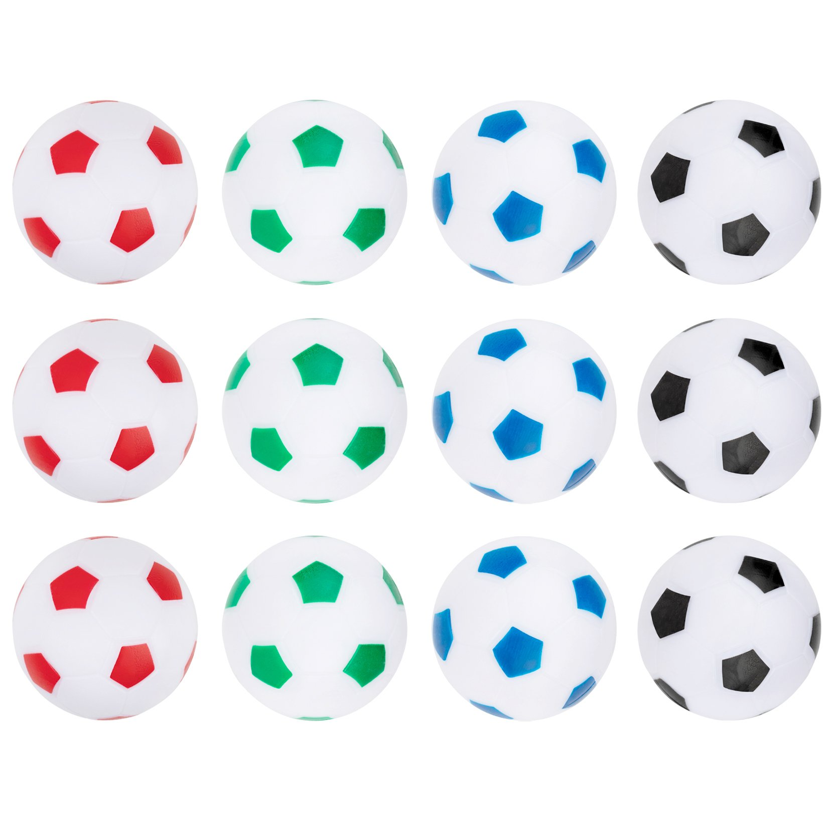 Truscope Sports Foosball Table Soccer Replacement Balls - 36mm - (12 Pack, Multi Color)