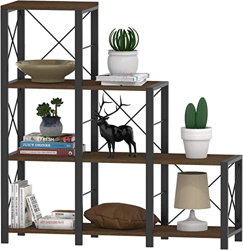 Hasuit Ladder Corner Bookshelf