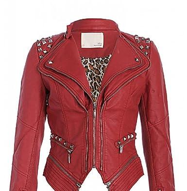 39b7853344993 Pretty Attitude - Chaqueta - para Mujer Rojo XL  Amazon.es  Ropa y  accesorios
