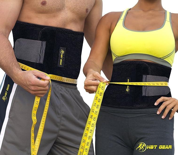 2a9942dce2 HBT GEAR Waist Trimmer Weight Loss Ab Belt Sauna Waist Trainer - Sweat Band  - ebook