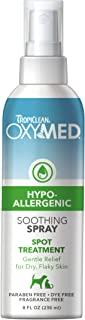 product image for TropiClean OxyMed Hypoallergenic Solutions for Pets - Made in USA - Gentle Itch Relief for Sensitive Skin, Allergies, Hot Spots - Dye Free, Paraben Free, Soap Free, SLS Free