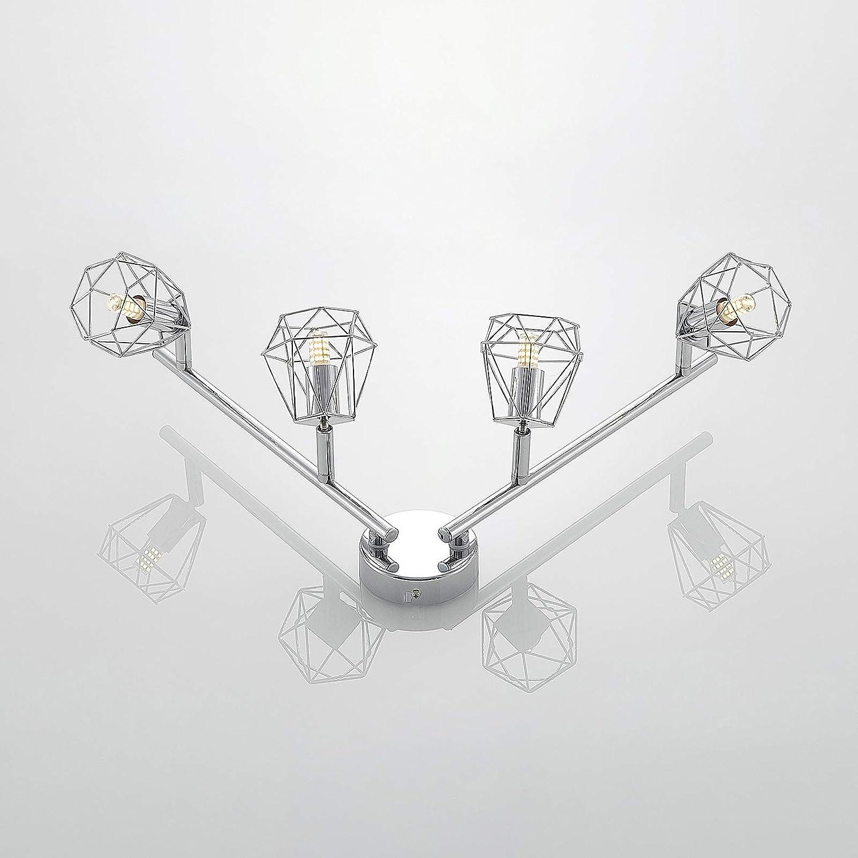 /à 4 lampes, G9, A++ de Lindby Moderne Luminaire Plafonnier Eclairage Interieur a LED Plafonnier Giada en Argent en M/étal e Lampe Plafond Eclerage Plafond pour Salon /& Salle /à manger