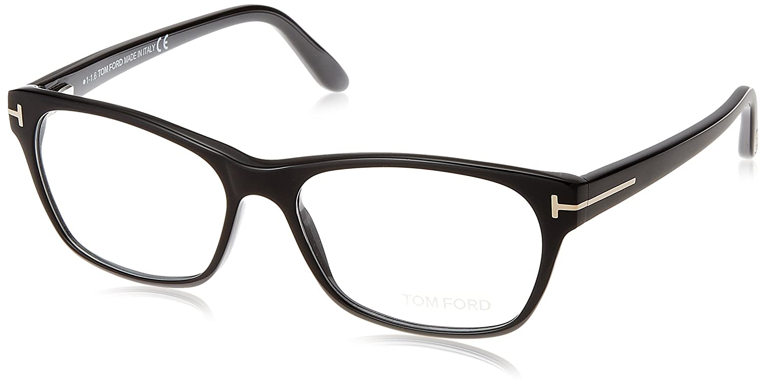 c4efaac7cc54 TOM FORD Women s TF 5405 001 Shiny Black Clear Butterfly Eyeglasses 54mm at  Amazon Men s Clothing store
