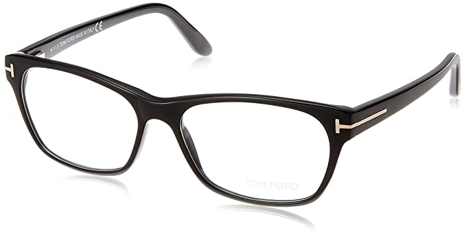 6895c4678777 Image Unavailable. Image not available for. Color  TOM FORD Women s TF 5405  001 Shiny Black Clear Butterfly Eyeglasses 54mm