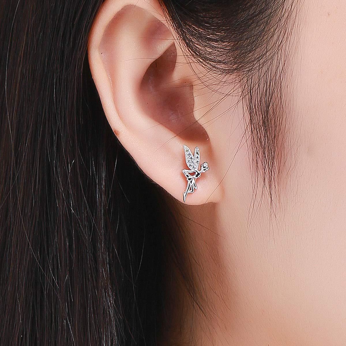 Boucles d/'oreilles /à tige hypoallerg/éniques en argent sterling pour femme et fille