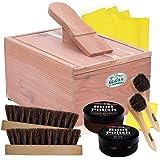 FOOTMATTERS Red Cedar Boot & Shoe Care Shine Box - Polish Kit