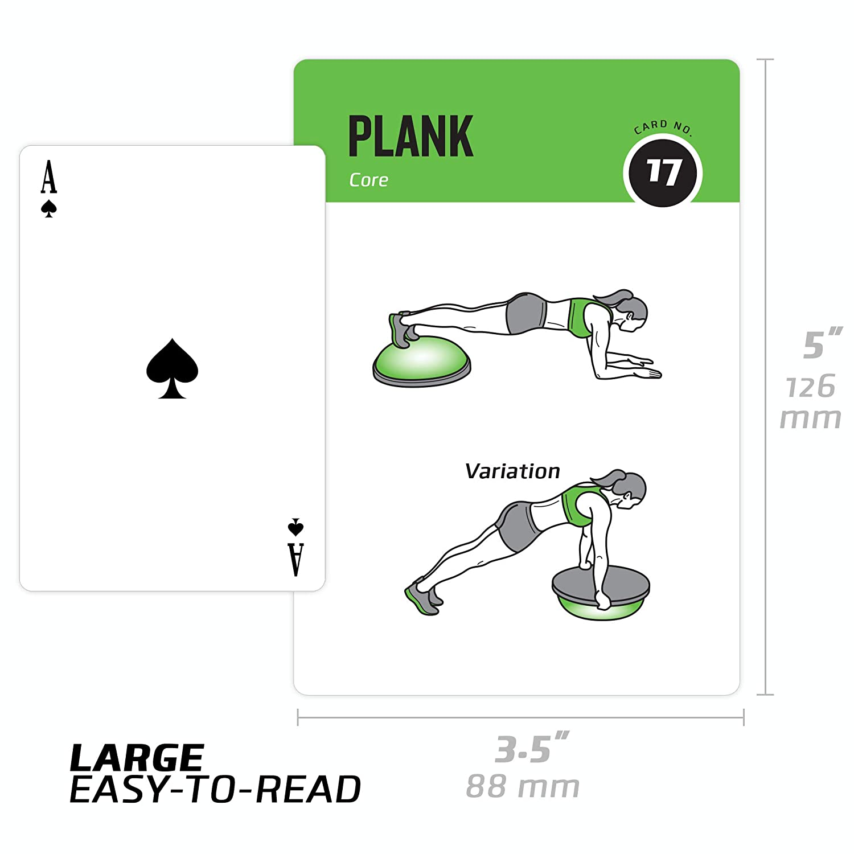 portatile fitness Total body at Home 62/carte /include 6 impermeabile esercizi di equilibrio palla/ durevole e schemi e istruzioni NewMe Fitness esercizi di stabilit/à extra large