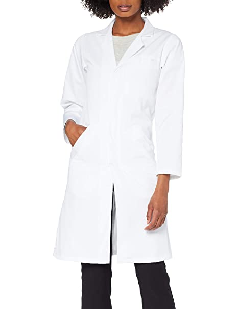Dr. James Bata de Laboratorio Mujer, Corte Clásico, Varios Bolsillos: Amazon.es: Ropa y accesorios