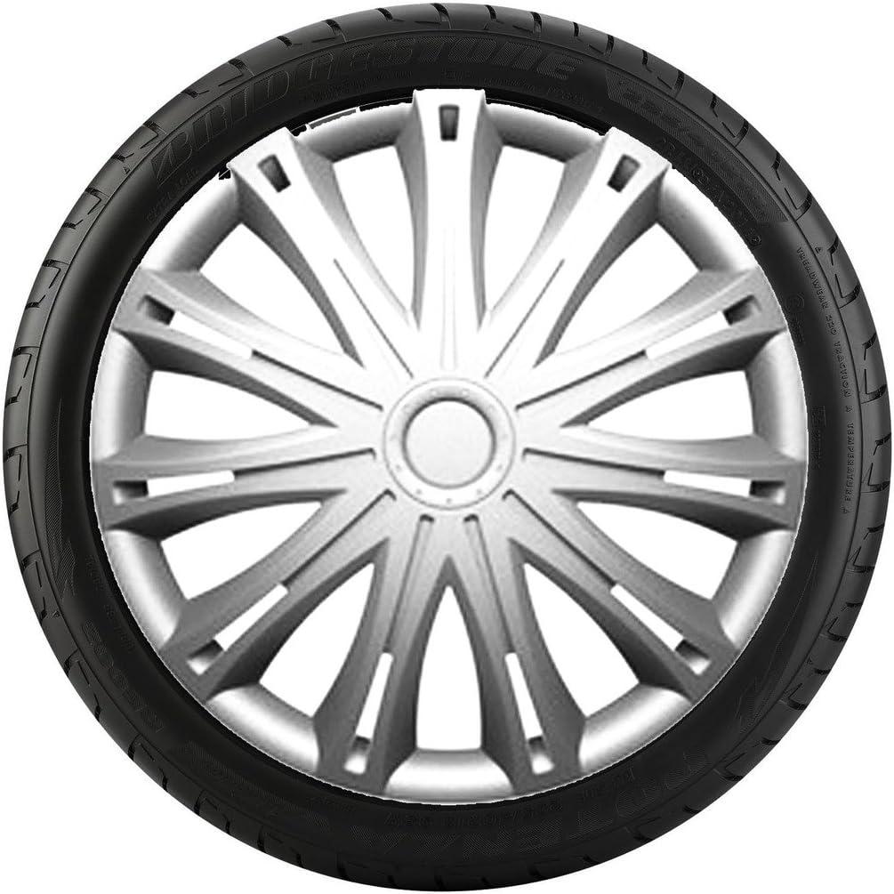13 inch Spark Car Alloy Wheel Trims Hub Caps Set of 4 2006 ON FIAT GRANDE PUNTO