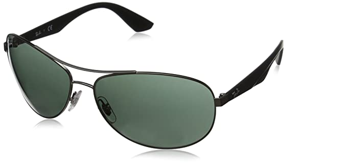 fe943e38ab Amazon.com  Ray-Ban METAL MAN SUNGLASS - MATTE GUNMETAL Frame GRAY GREEN Lenses  63mm Non-Polarized  Clothing