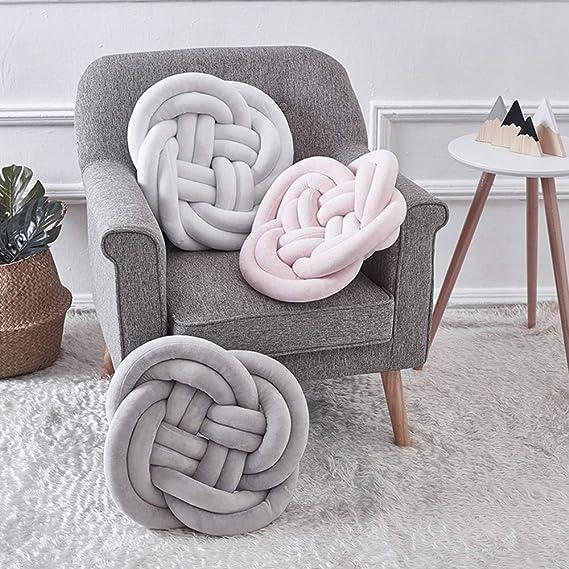 Amazon.com: Almohadas de nudo hechas a mano, cojines de ...