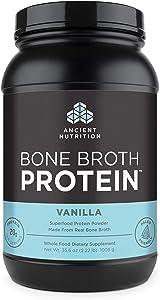Ancient Nutrition Bone Broth Protein Powder, Vanilla Flavor, 40 Servings Size