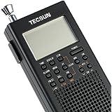 TECSUN PL-360 超小型デジタルDSPポケット短波ラジオ 長波・中波用外付アンテナ ポータブルBCL受信機 FMステレオ/LW/MW/SW ワールドバンドレシーバー 450局プリセットメモリー シグナルメーター USB給電 ATSオートプリセット ETM スリープタイマー アラーム 高音質スピーカー (ブラック)