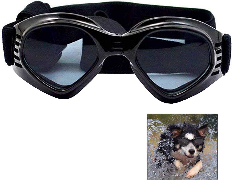 iwobi Gafas de Sol para Perros, Gafas de Sol y Protectoras para Perros pequeños, con protección UV, Impermeables, Cortavientos y con Efecto antivaho para Mascotas pequeñas