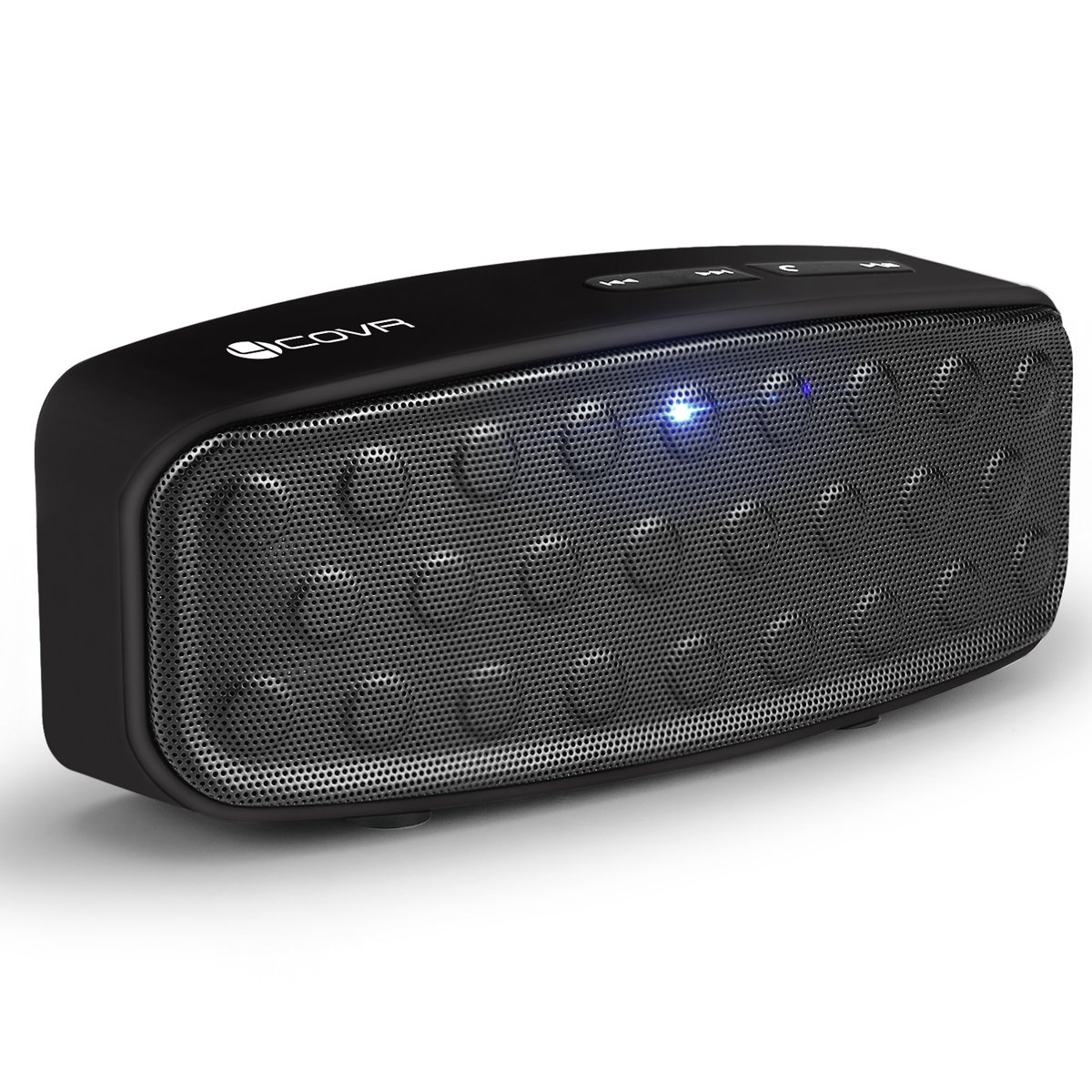 Forcovr Wireless Portable Bluetooth Speaker with 3W Dual-Driver Stereo Sound, Built-in Mic, V4.2, Handsfree Call, Durable Design for Outdoor/Indoor Speakers for iPhone/Andriod, Travel/Home Black