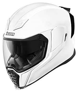 Icon Airflite - Casco de moto, color blanco brillante